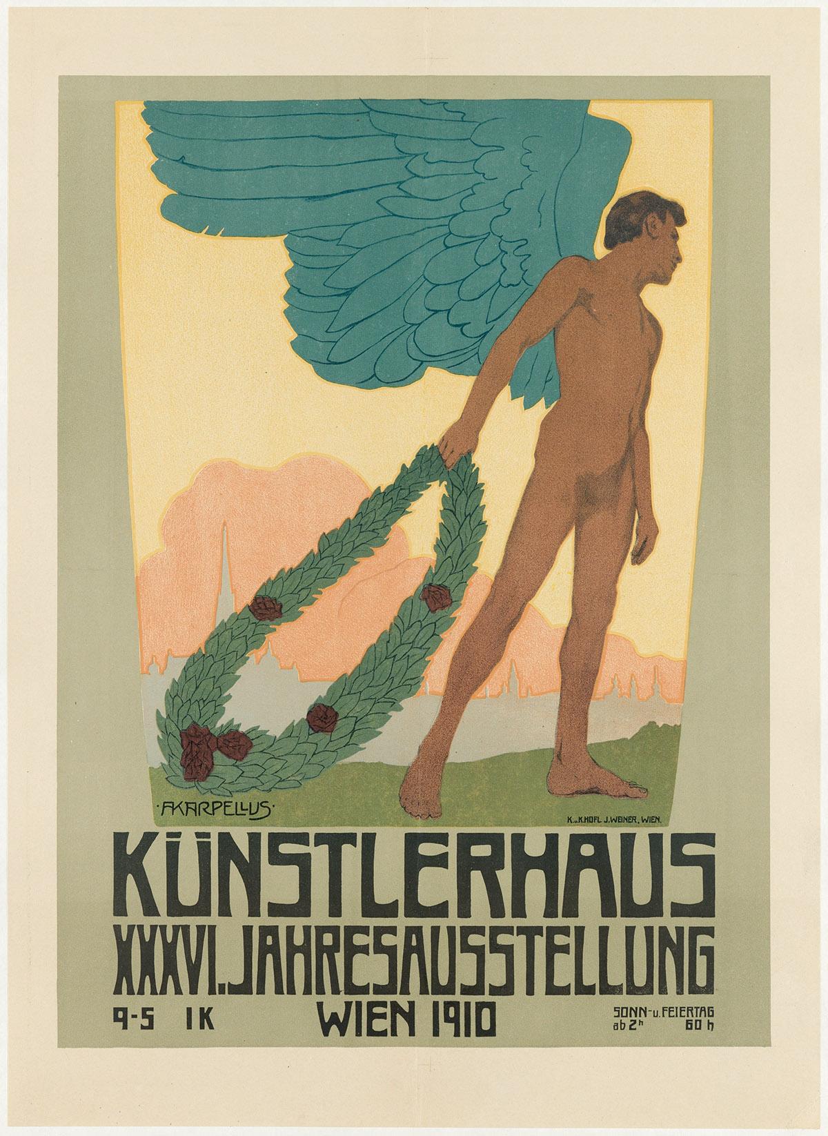 ADOLF KARPELLUS (1869-1919). KÜNSTLERHAUS XXXVI. JAHRESAUSSTELUNG. 1910. 24x18 inches, 61x45 cm. J. Weiner, Vienna.