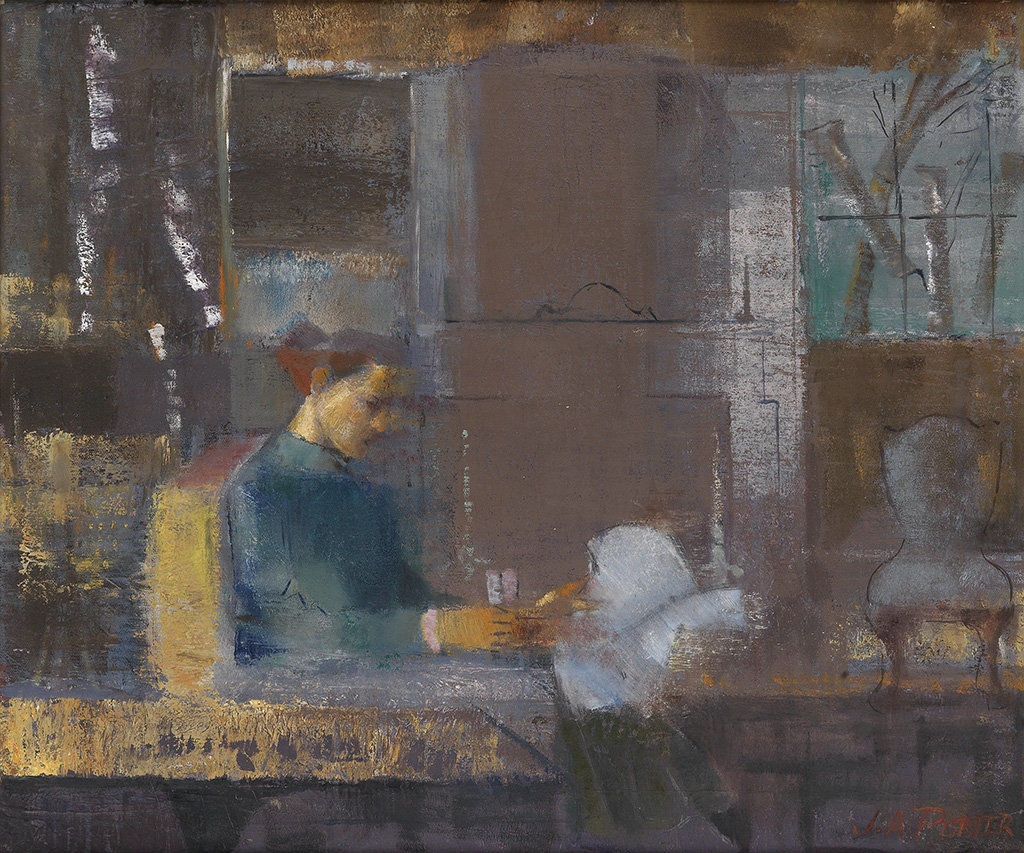 JAMES A. PORTER (1905 - 1970) Woman Reading.