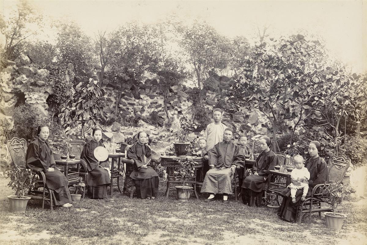 (CHINA--CHEONG CHI PIO & HIS VERDANT VILLA) Presentation album entitled Photographs of Cheong Chi, Pio Members of Family, Residence a