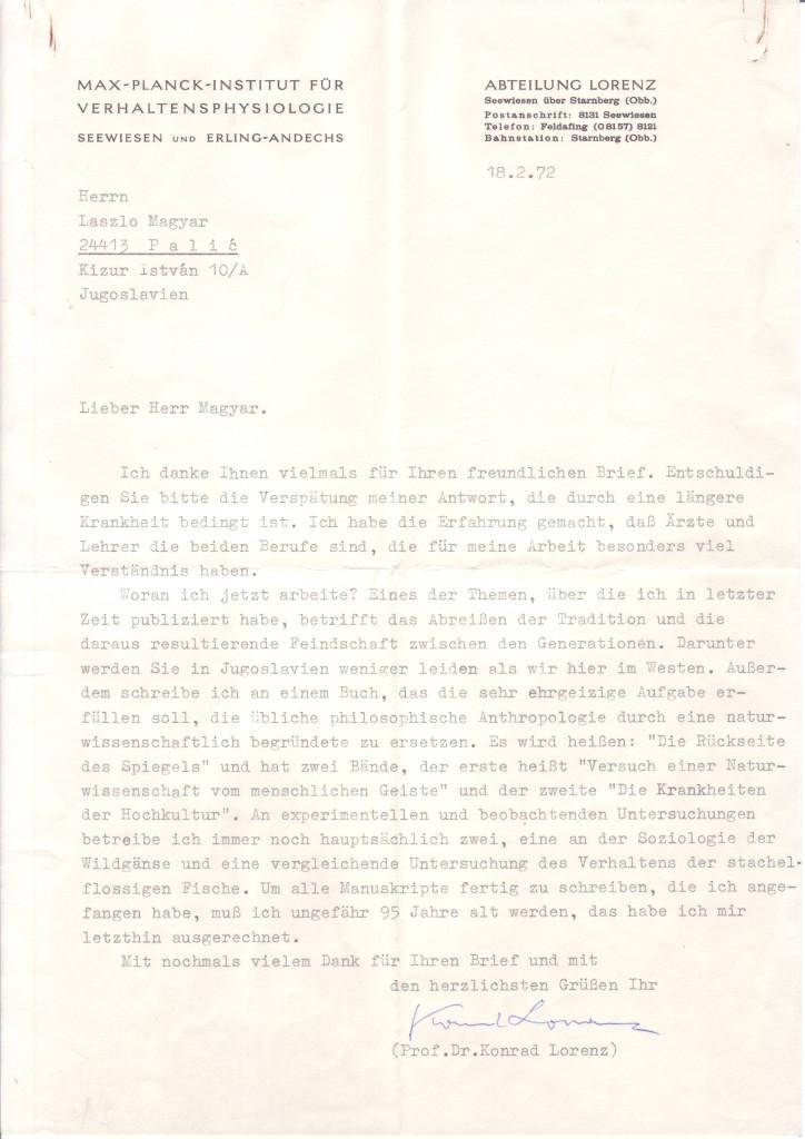 (SCIENTISTS)-LORENZ-KONRAD-Typed-Letter-Signed-to-László-Mag