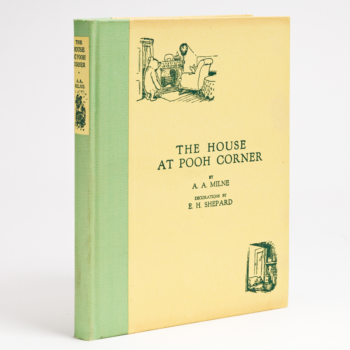 (CHILDRENS LITERATURE.) MILNE, A.A. The House at Pooh Corner.