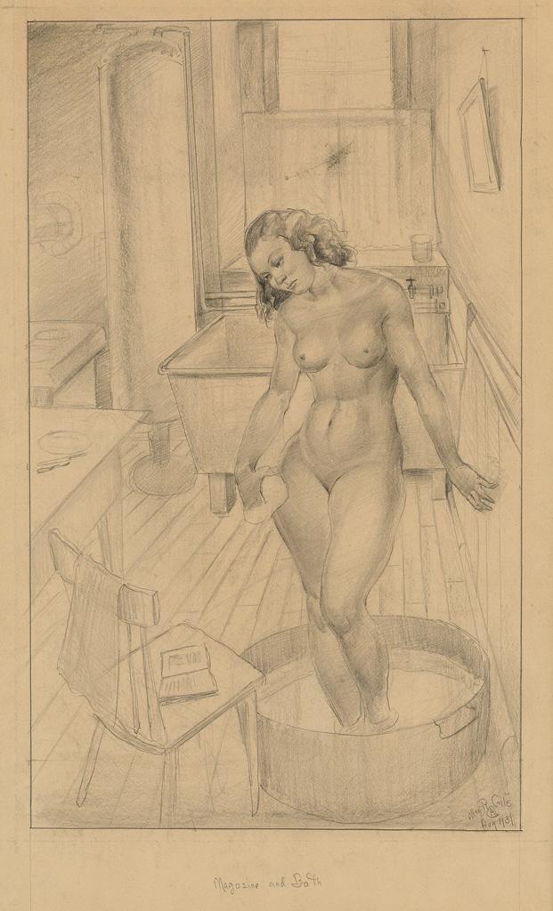 ALLAN ROHAN CRITE  (1910 - 2007) Magazine and Bath.