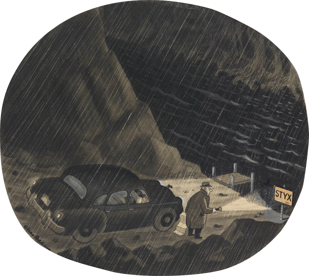 (THE NEW YORKER.)  CHARLES ADDAMS. The River Styx.