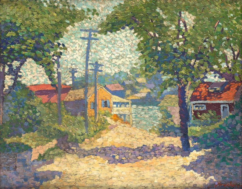 ALLAN FREELON (1895 - 1960) View of Gloucester Street.