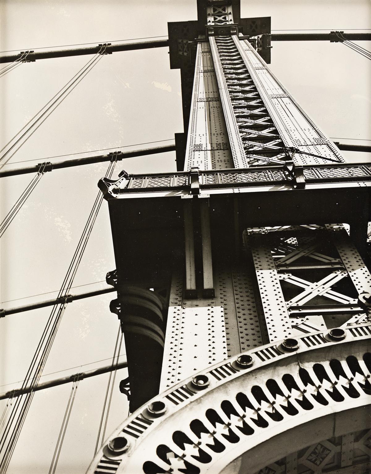 BERENICE ABBOTT (1898-1991) Manhattan Bridge (looking up).