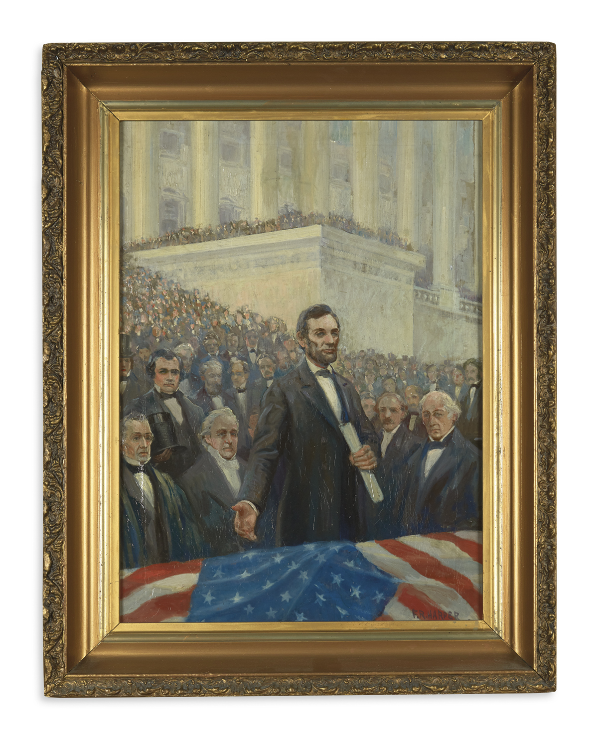 (PAINTINGS)-Harper-FR-Portrait-of-Lincoln-delivering-his-fir