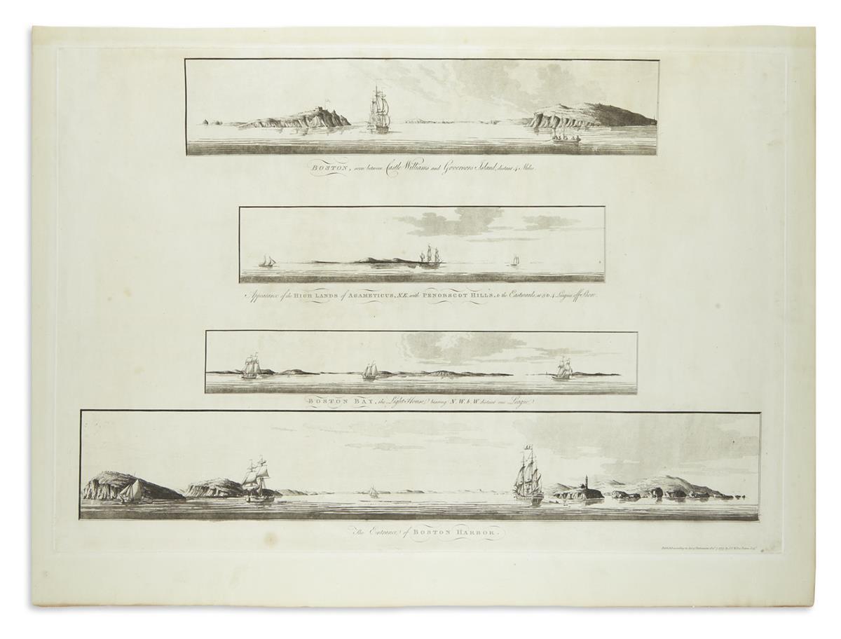 DES-BARRES-JOSEPH-FREDERICK-WALLET-[Four-views-of-Boston-Har