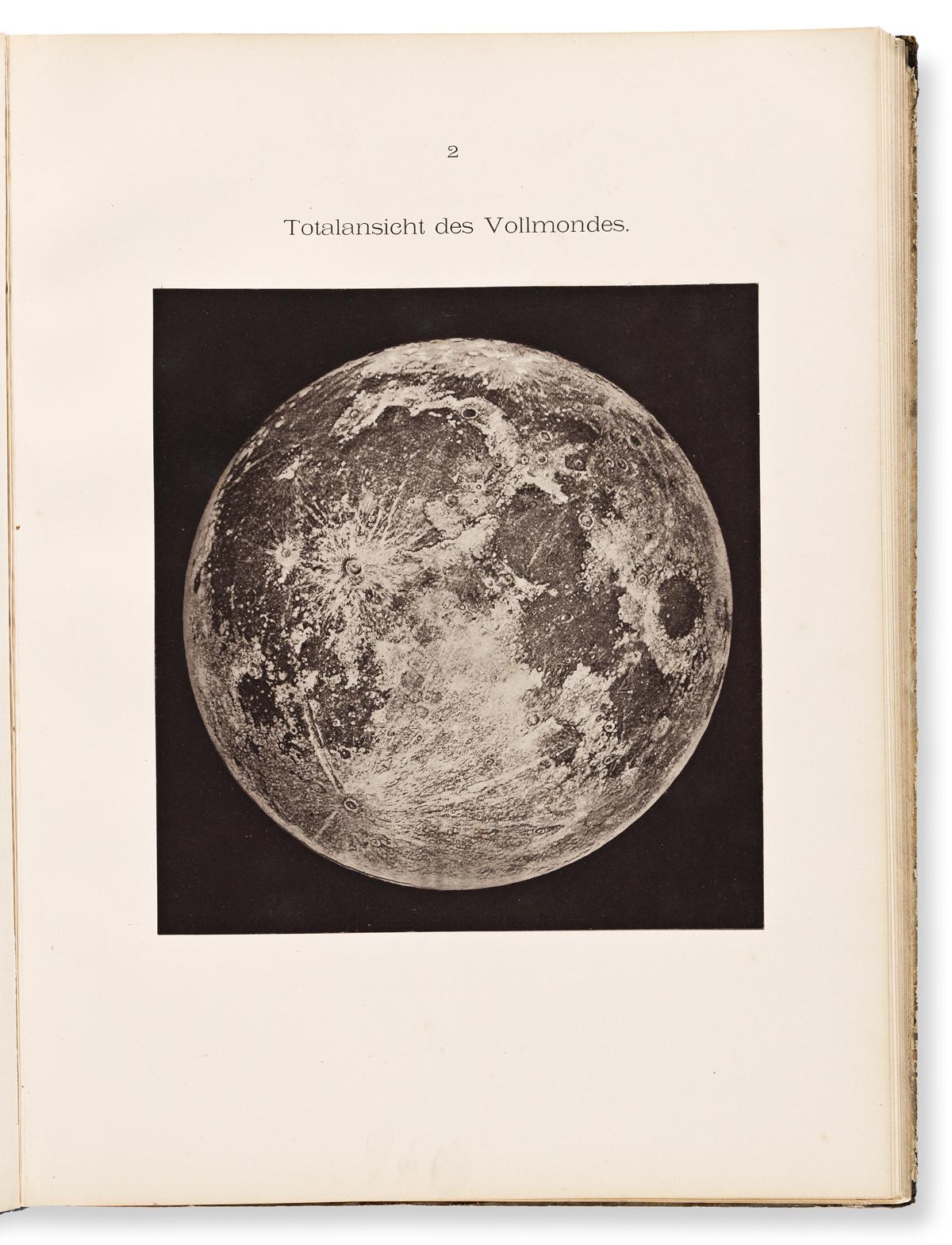 Valentiner, Carl Wilhelm (1845-1931) Atlas des Sonnensystems, 25 Abbildungen in Lichtdruck.