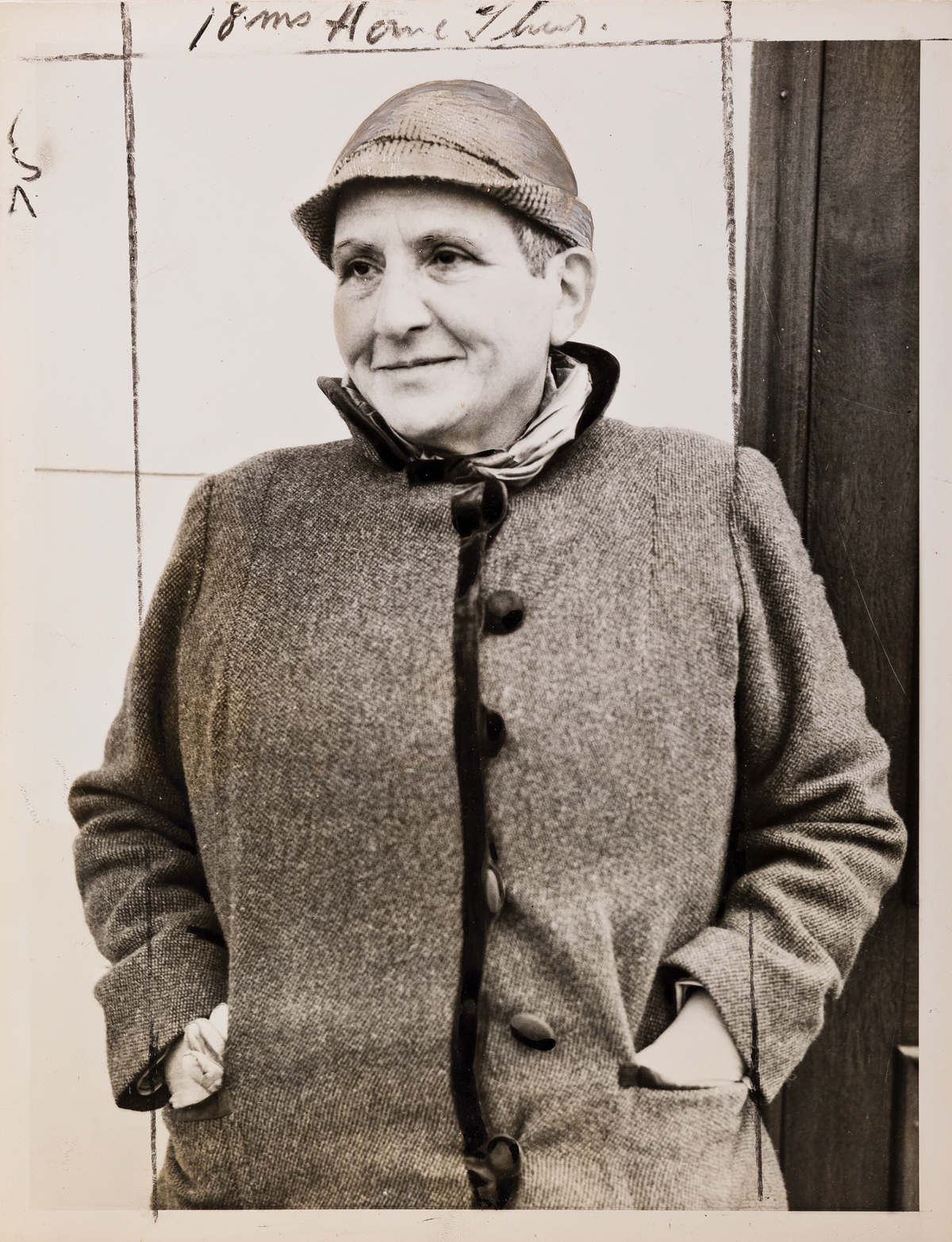 (GERTRUDE STEIN 1874-1946) A collection of 5 press prints depicting the early LGBTQ+ pioneer and literary figure Gertrude Stein, upon h
