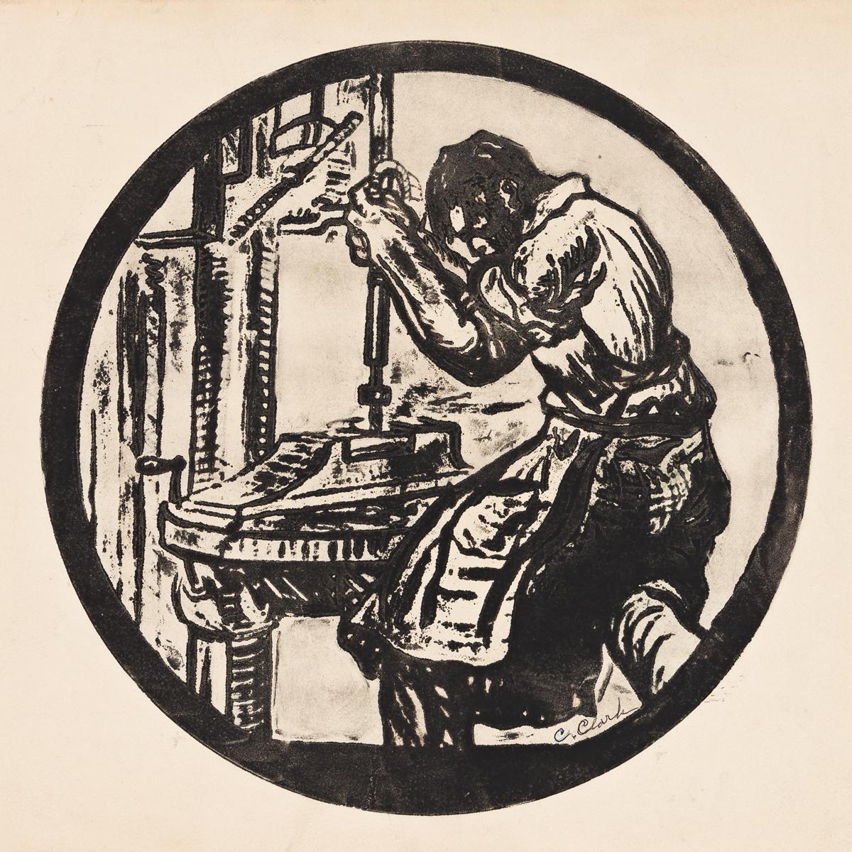CLAUDE CLARK (1915 - 2001) Drill Press.