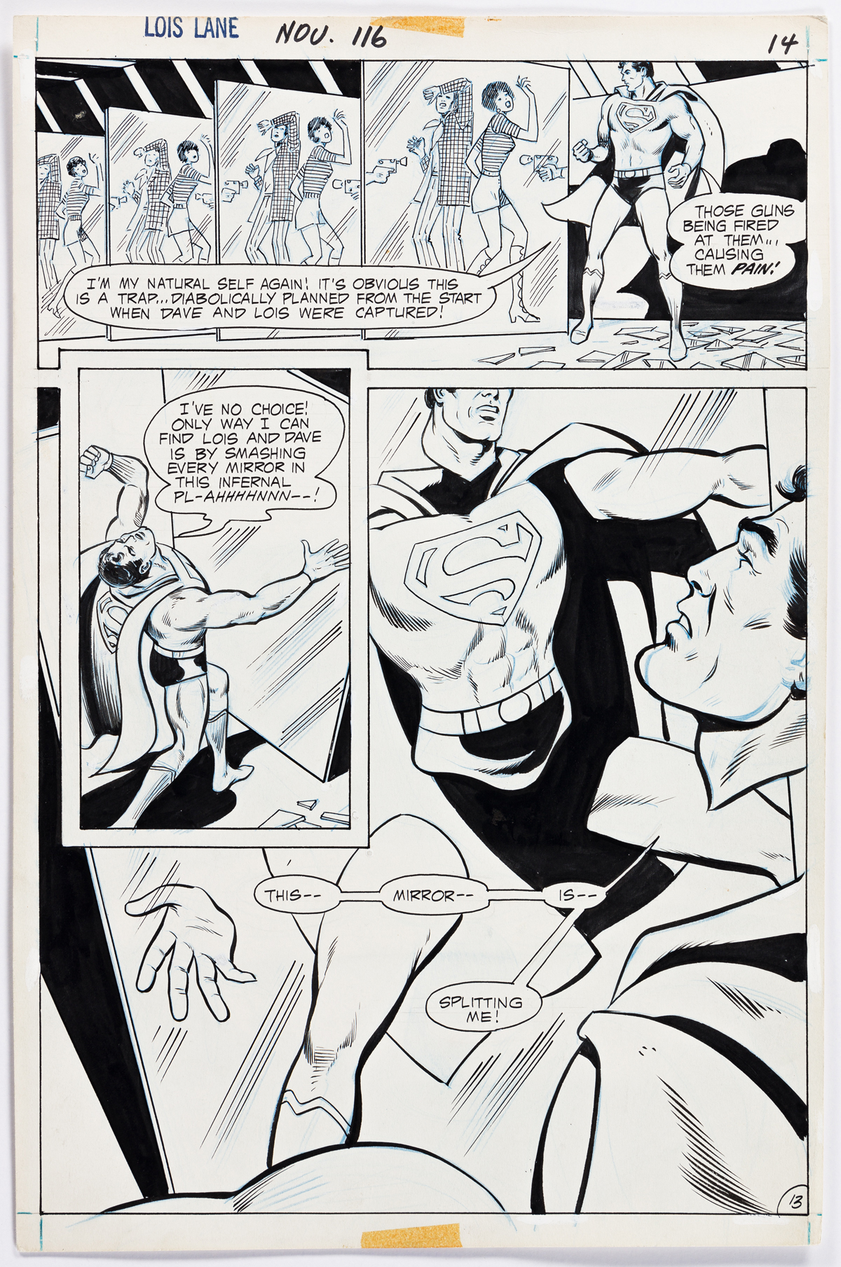 WERNER ROTH (1921-1973) / VINCE COLLETTA (1923-1991) This mirror is splitting me! [COMICS / SUPERMAN / LOIS LANE]