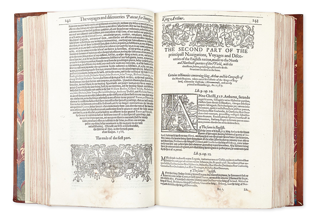 HAKLUYT, RICHARD. The Principall Navigations, Voiages and Discoveries of the English Nation.