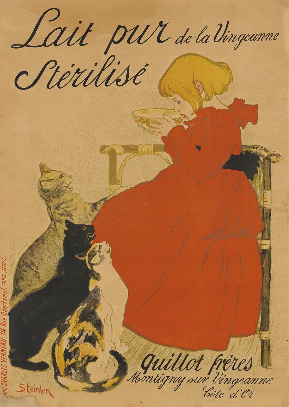 THÉOPHILE-ALEXANDRE-STEINLEN-(1859-1923)-LAIT-PUR-STÉRILISÉ-