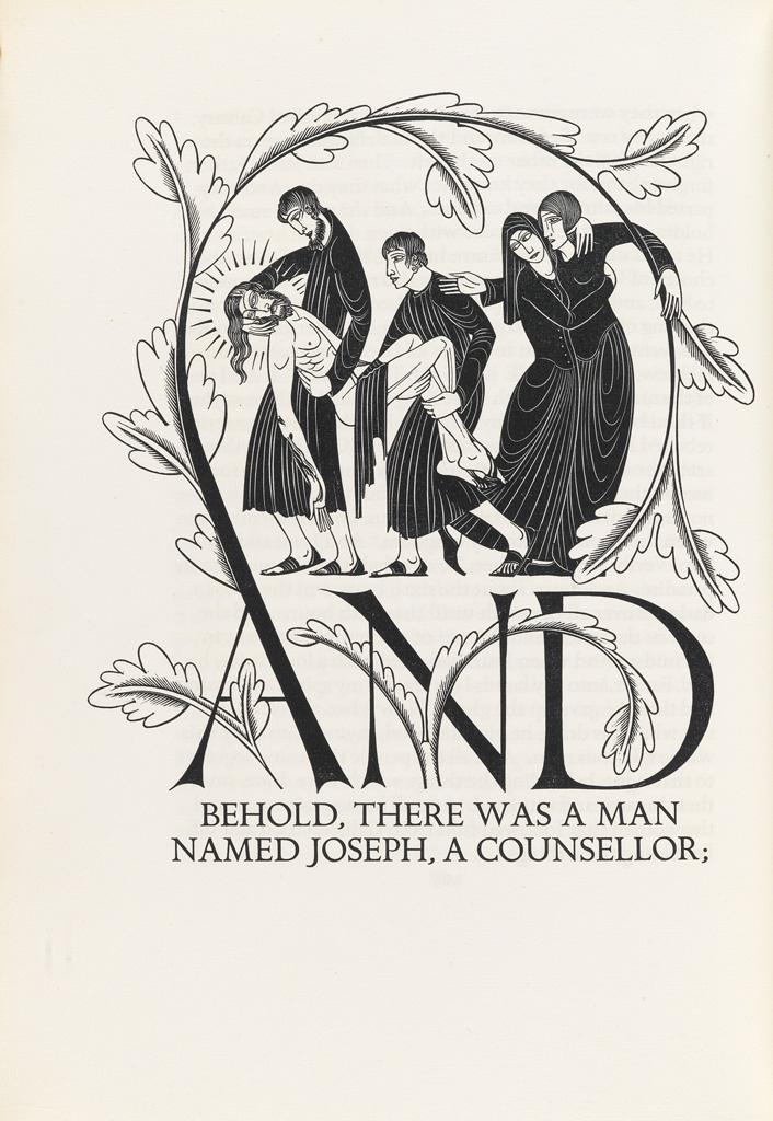 GILL-ERIC--GOLDEN-COCKEREL-PRESS-The-Four-Gospels-of-the-Lor