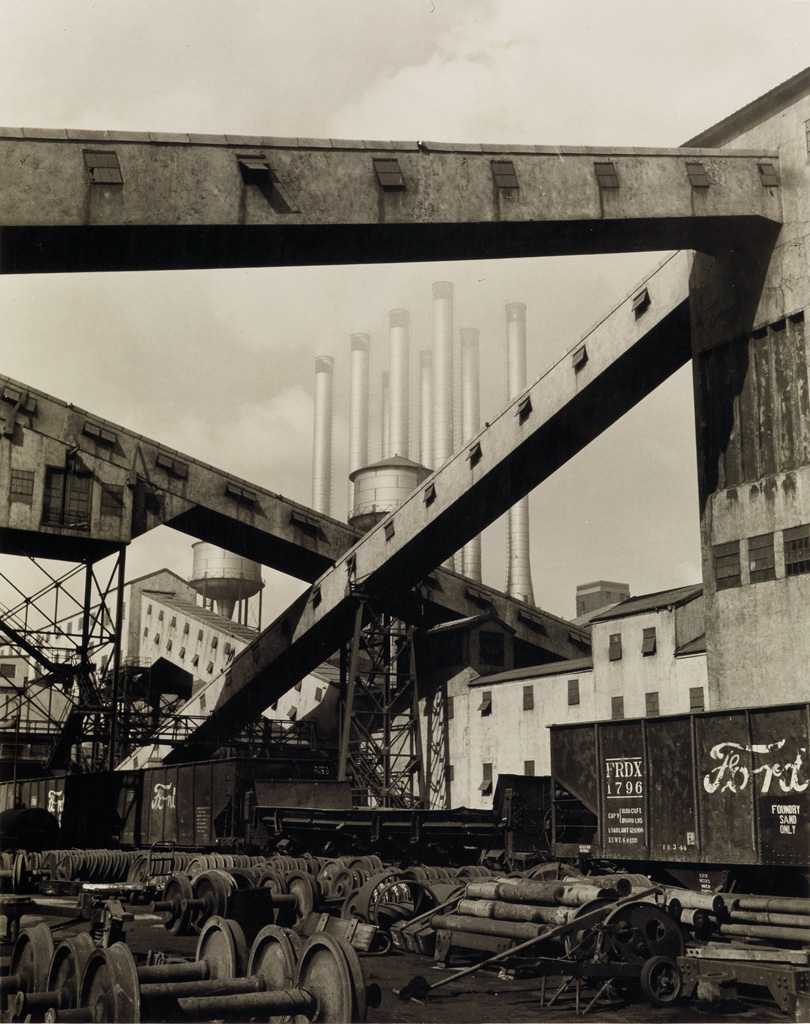 WALKER EVANS (1903-1975) River Rouge Plant, Detroit, Michigan (with Ford signage on freight car).