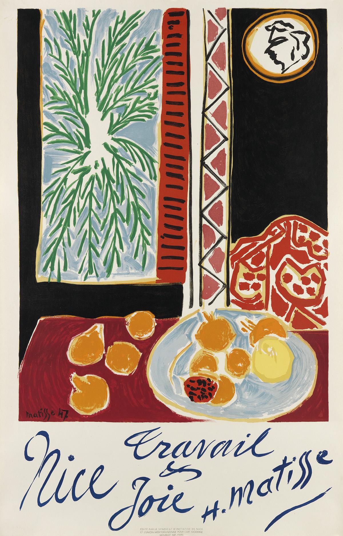 HENRI-MATISSE-(1869-1954)-NICE--TRAVAIL--JOIE-1947-39x25-inc