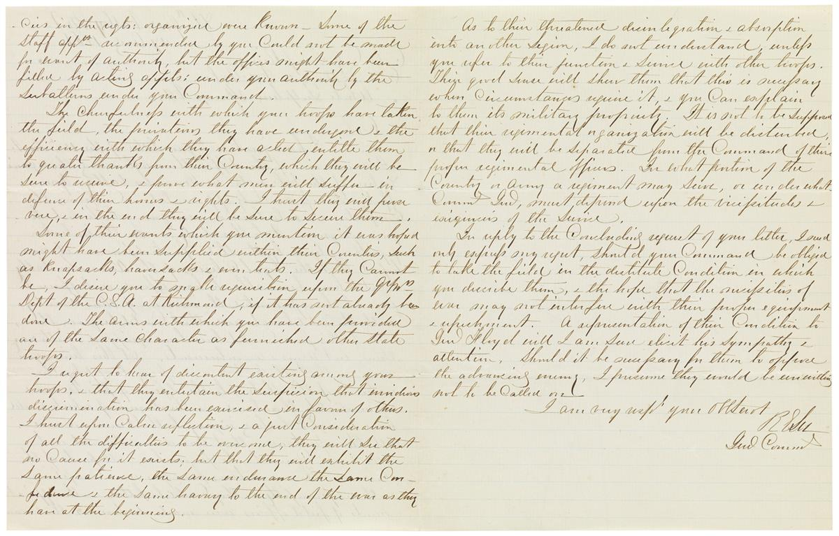 (CIVIL-WAR)-LEE-ROBERT-E-Autograph-Letter-Signed-R-ELee--Gen