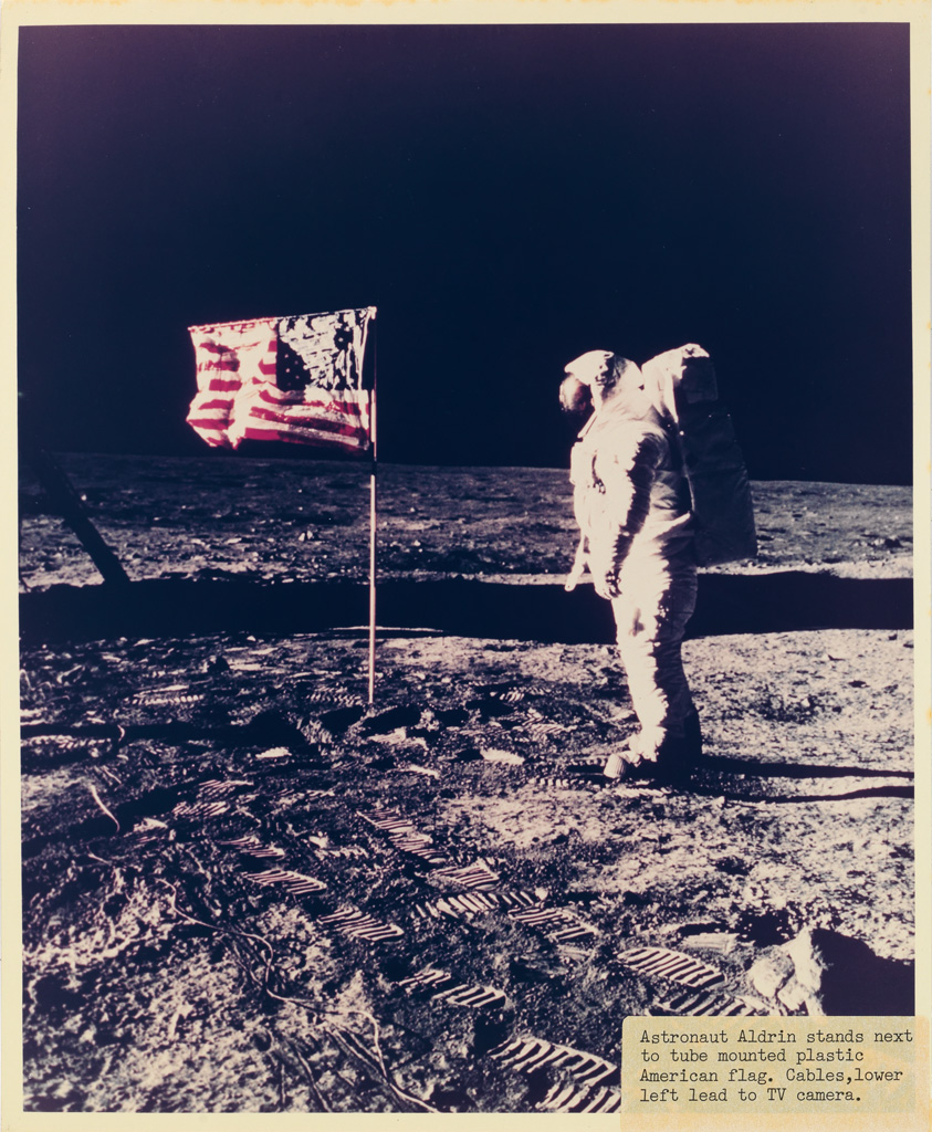 (APOLLO SPACE MISSIONS) An archive of 6 period binders containing approximately 280 photographs depicting Apollo Missions 10, 11, 12, 1