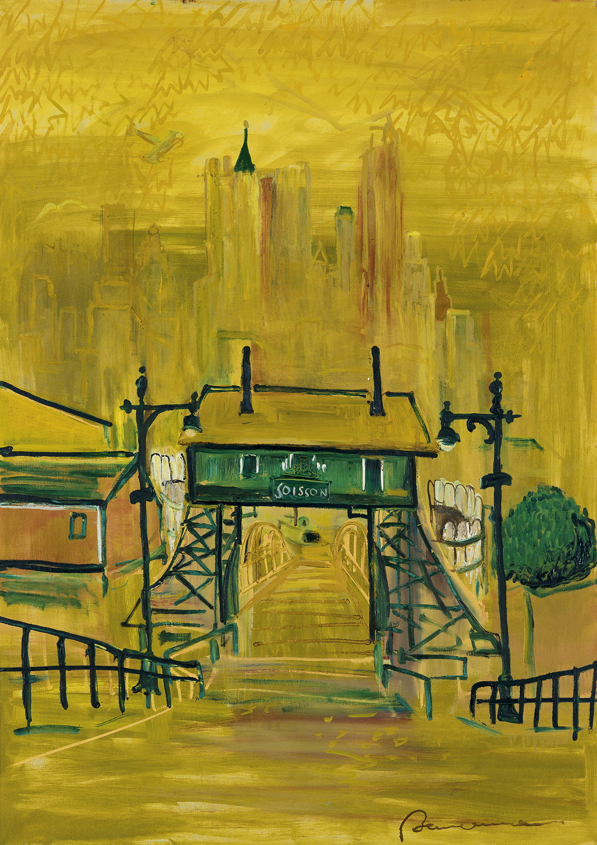 LUDWIG BEMELMANS. View from Governors Island. Soissons Dock.