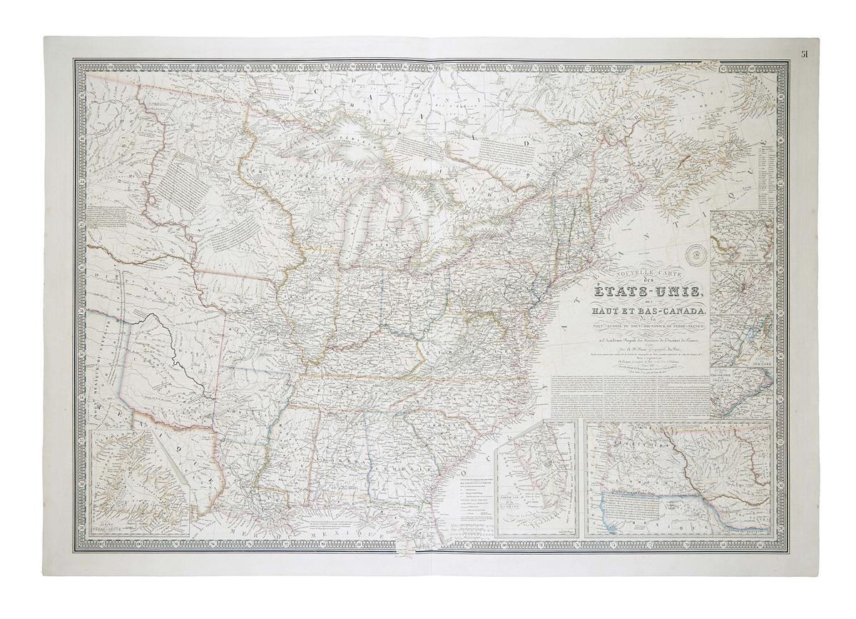 BRUÉ-ADRIEN-HUBERT-Nouvelle-Carte-des-Etats-Unis-des-Haut-et-Bas-Canada