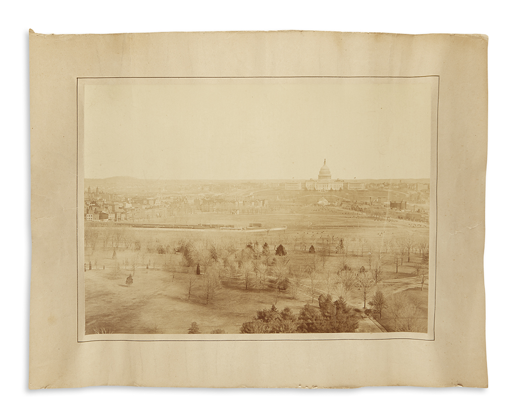 (DISTRICT OF COLUMBIA.) [Hacker, Francis; photographer?] Mammoth photograph of the Capitol and environs.