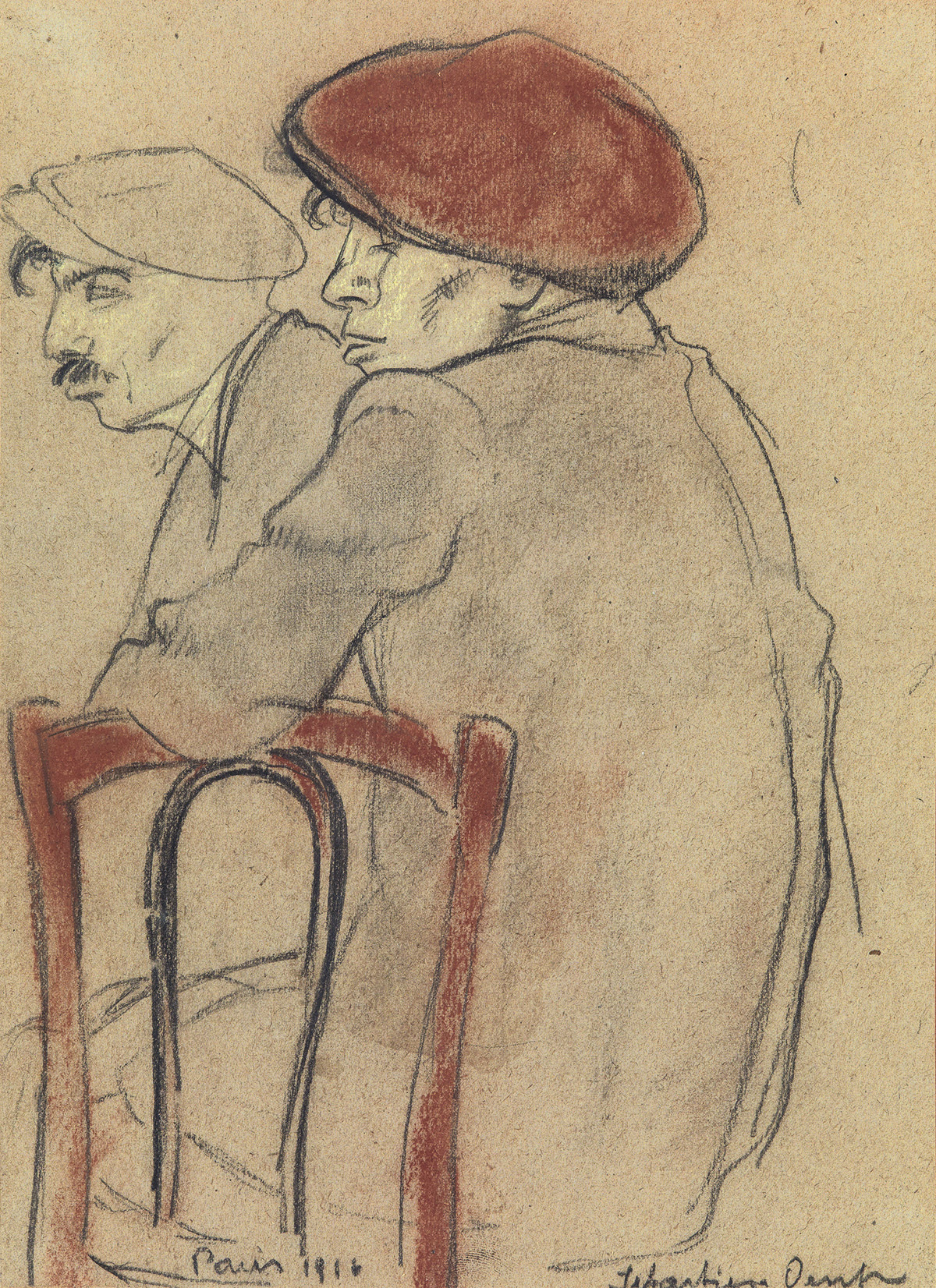 ALBERT-SEBASTIAN-OESCH-Sitzende-Figuren