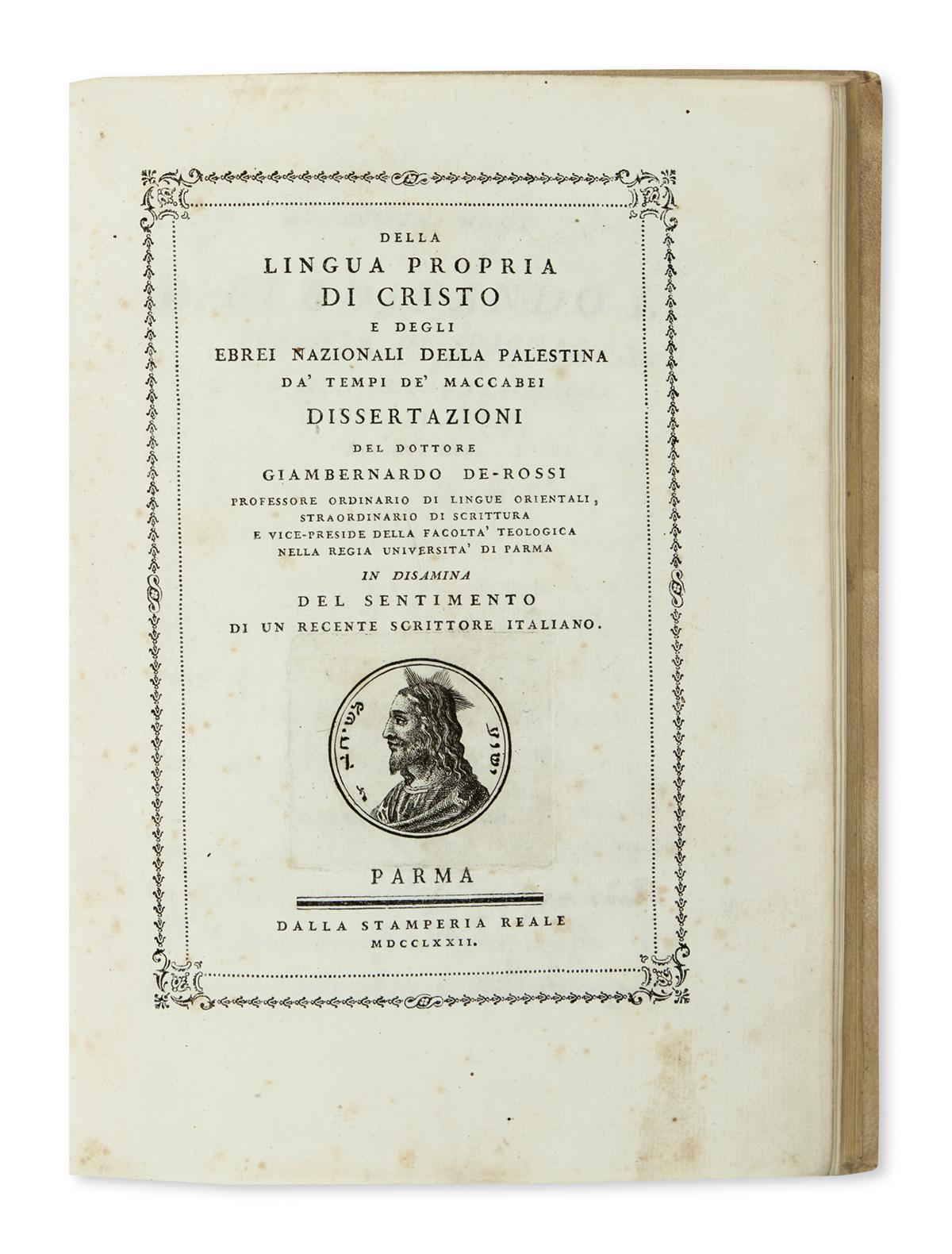 BODONI-PRESS--De-Rossi-Giovanni-Bernardo-Della-Lingua-Propri