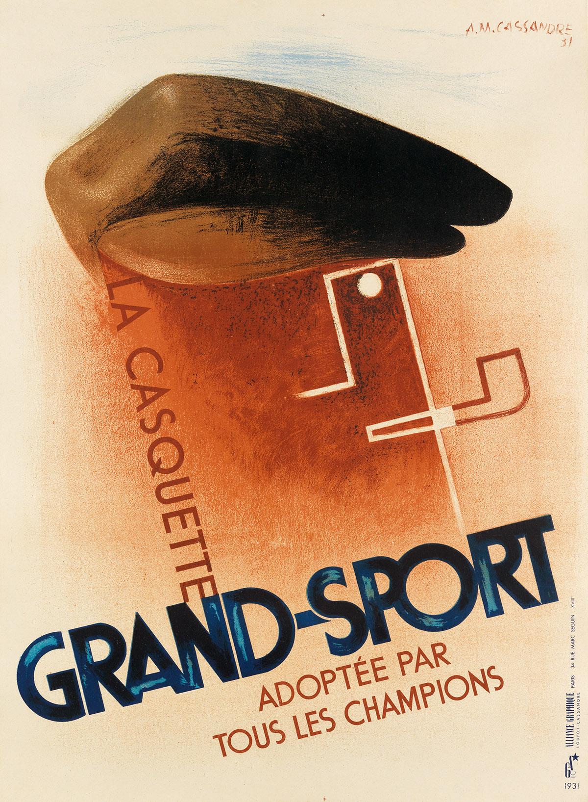 ADOLPHE-MOURON-CASSANDRE-(1901-1968)-LA-CASQUETTE-GRAND---SP