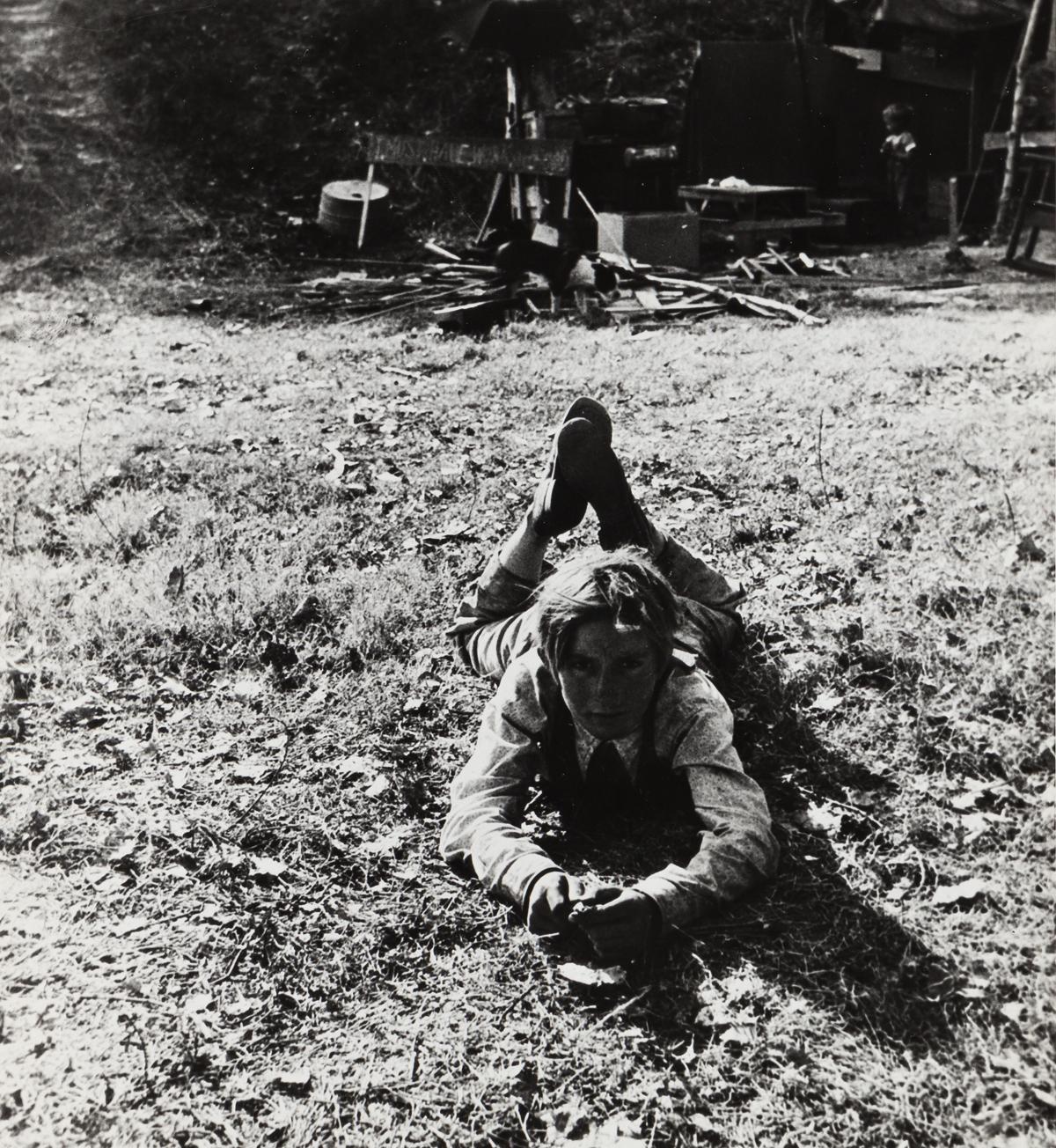 DOROTHEA LANGE (1895-1965) Boy, fourteen, American River Camp, California.