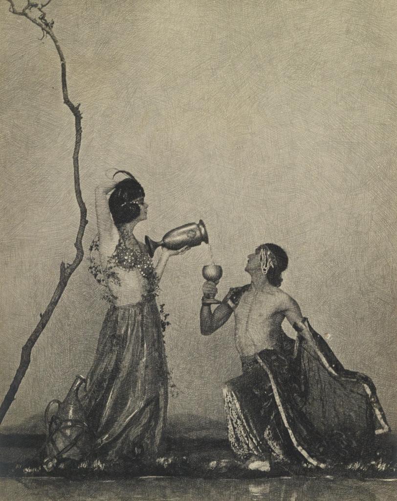 WILLIAM MORTENSEN (1897-1965) A portfolio of 12 plates related to Mortensens interpretation of The Rubaiyat of Omar Khayyam.