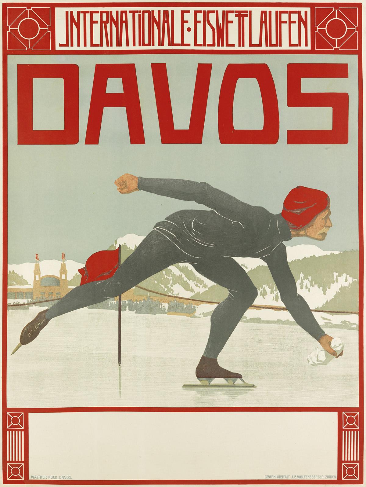 WALTHER-KOCH-(1875-1915)-DAVOS--INTERNATIONALE-EISWETTLAUFEN