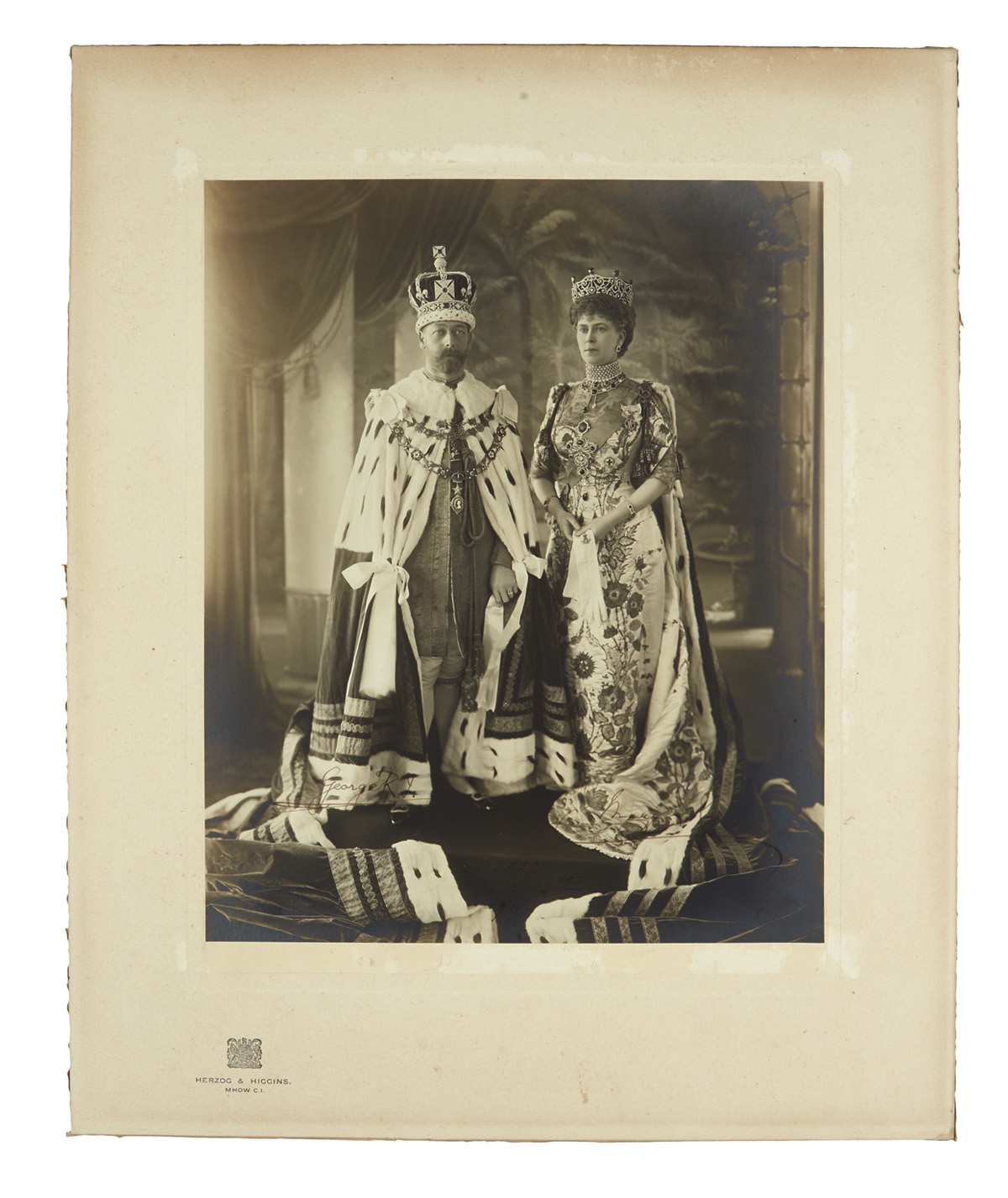 GEORGE-V;-AND-MARY;-KING-AND-QUEEN-OF-THE-UK-Large-Photograp
