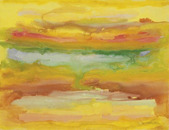 BEAUFORD DELANEY (1901 - 1979) Untitled (Rainbow Abstraction).