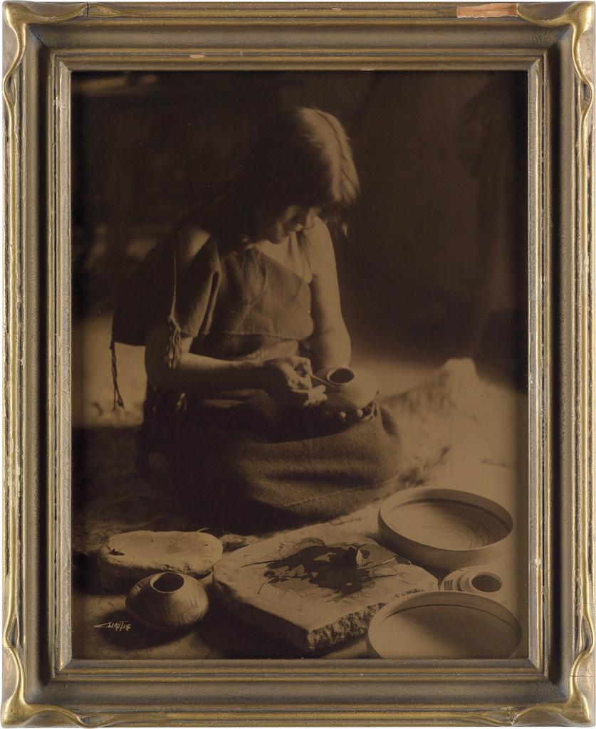 EDWARD S. CURTIS (1868-1952) The Potter, Hopi.