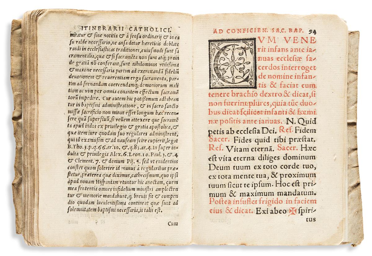 (MEXICO.) Juan Focher [Jean Foucher]. Itinerarium Catholicum proficiscentium, ad infideles covertendos.
