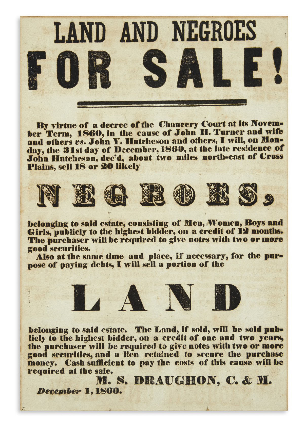 (SLAVERY-AND-ABOLITION)-Land-and-Negroes-for-Sale