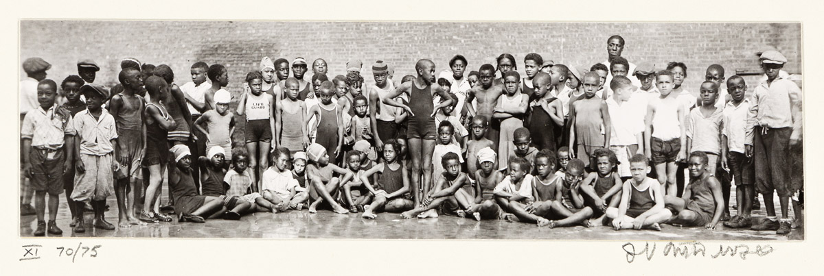 JAMES VANDERZEE (1886 - 1983) Swimming Team.
