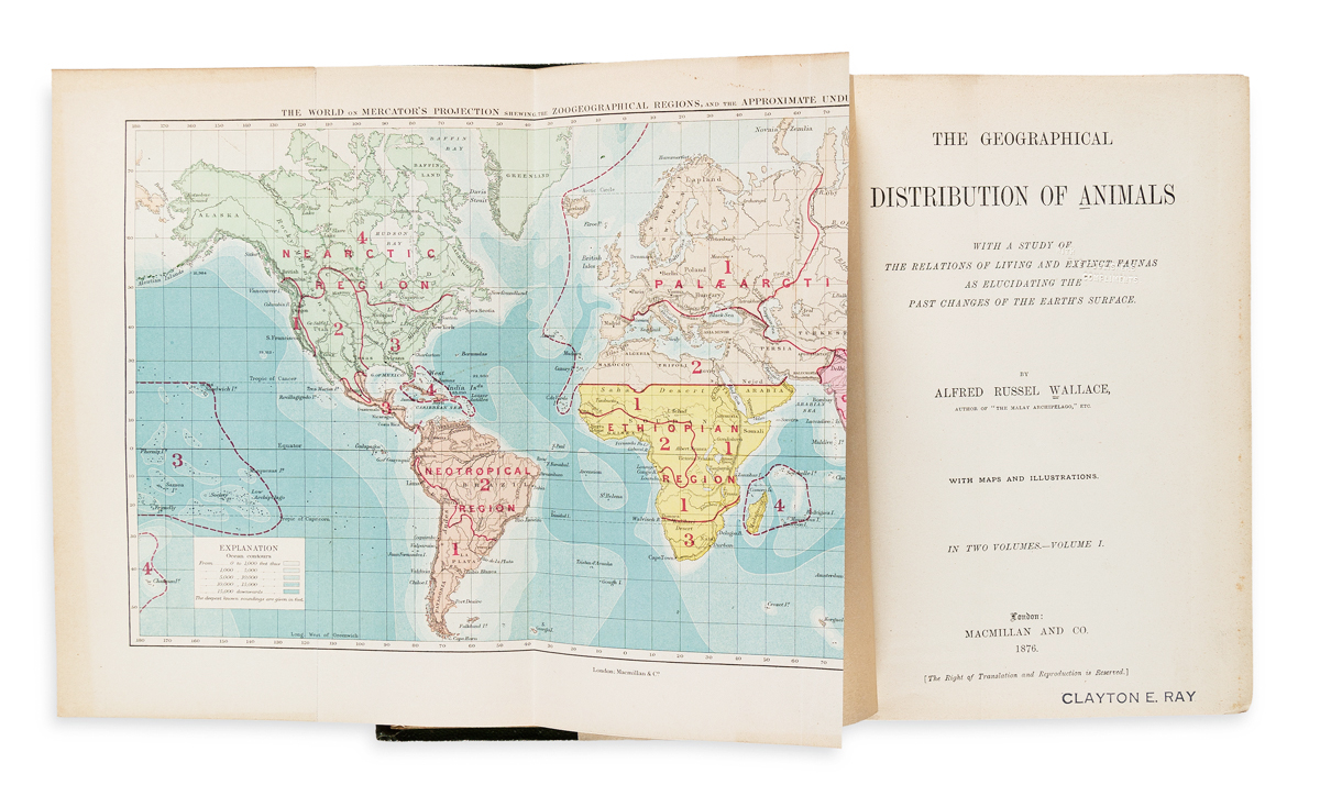 Wallace, Alfred Russel (1823-1913) The Geographical Distribution of Animals.