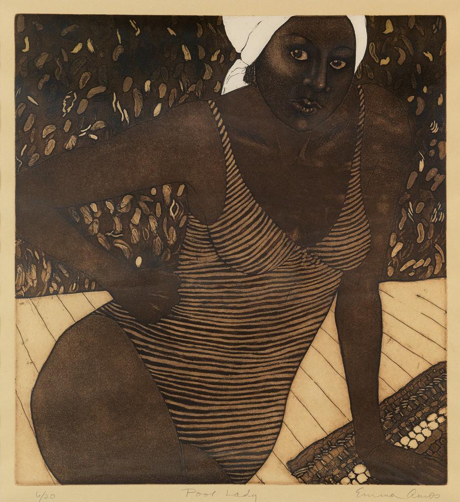 EMMA AMOS (1938 -   ) Pool Lady.