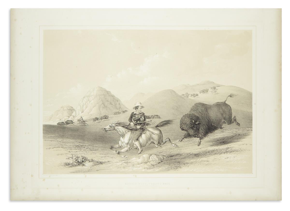 CATLIN-GEORGE-Buffalo-Hunt-Chasing-Back