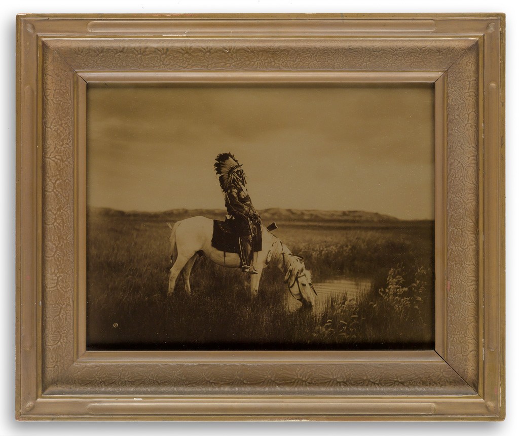 EDWARD S. CURTIS (1868-1952) An Oasis in the Badlands.