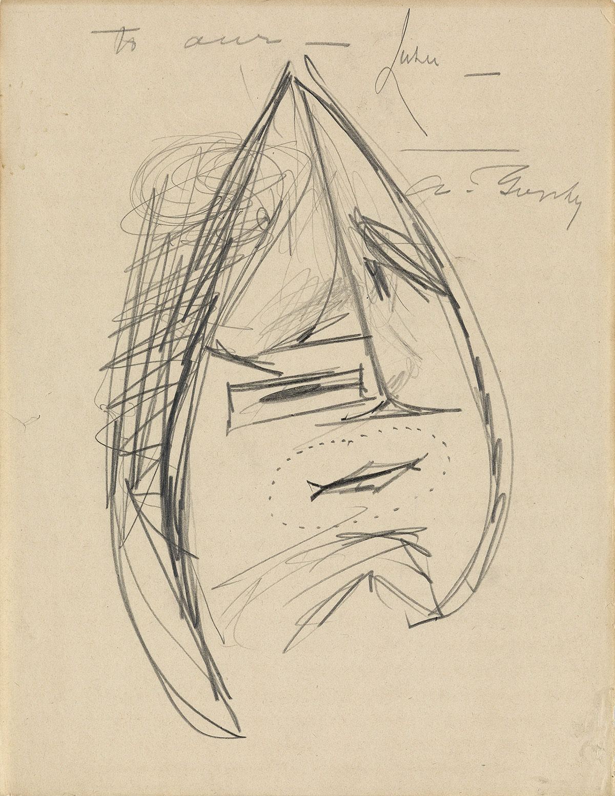 ARSHILE-GORKY-Group-of-4-pencil-drawings