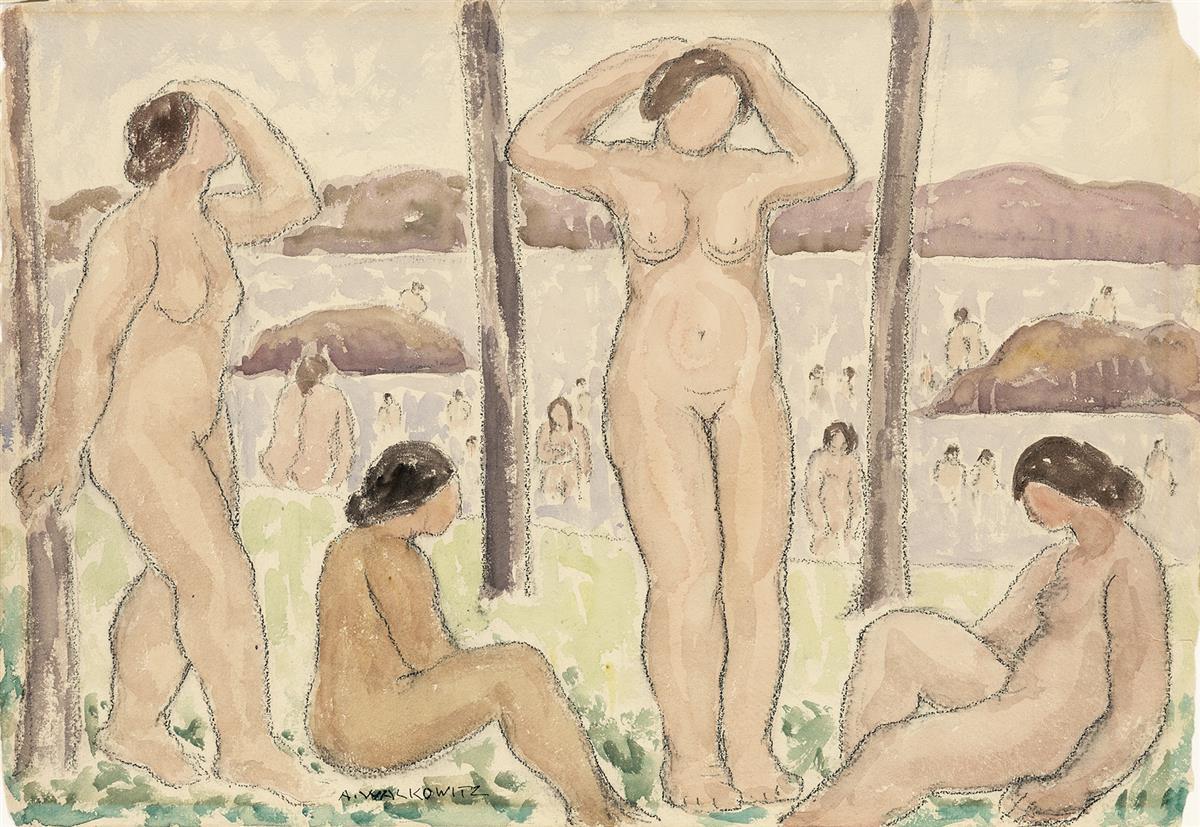 ABRAHAM WALKOWITZ Bathers (Four Nudes).