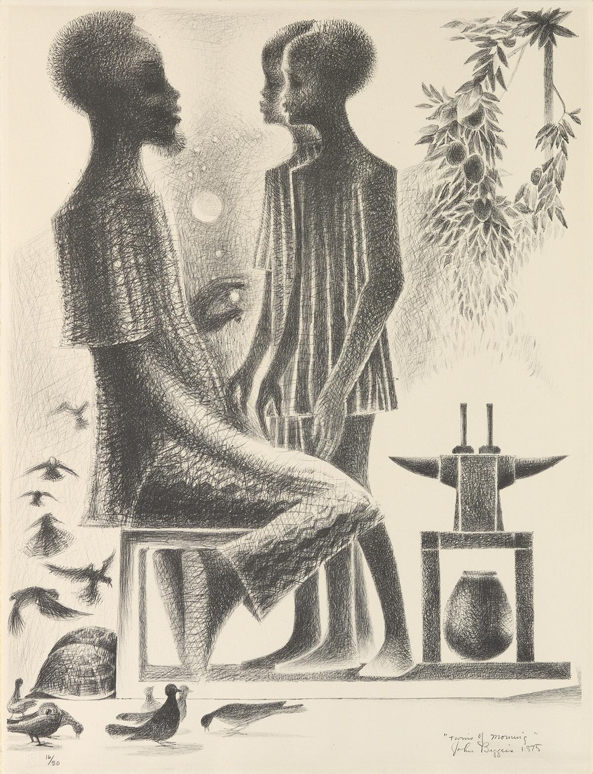 JOHN BIGGERS (1924 - 2001) Twins of Morning.