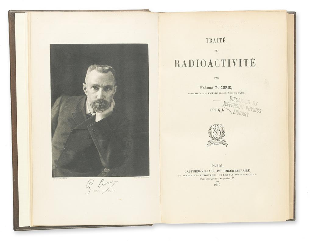 CURIE-MARIE-Traité-de-Radioactivité-2-vols-1910
