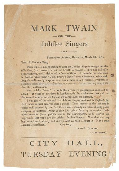 DOUGLASS, FREDERICK. A Song from Frederick Douglass.
