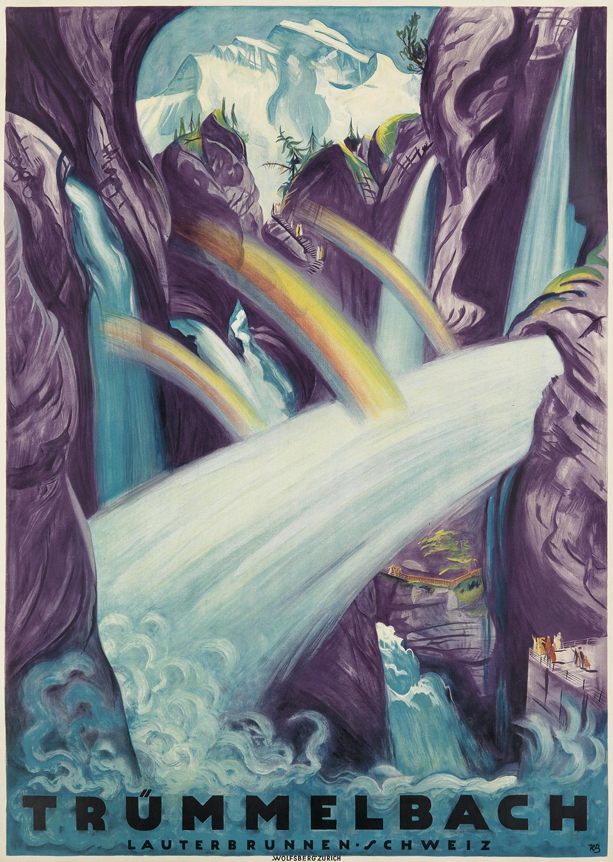 KARL-BICKEL-(1886-1982)-TRÜMMELBACH-1931-50x36-inches-127x91