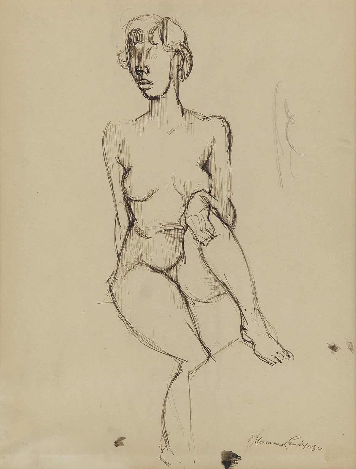 NORMAN LEWIS (1909 - 1979) Untitled (Nude Sketch).