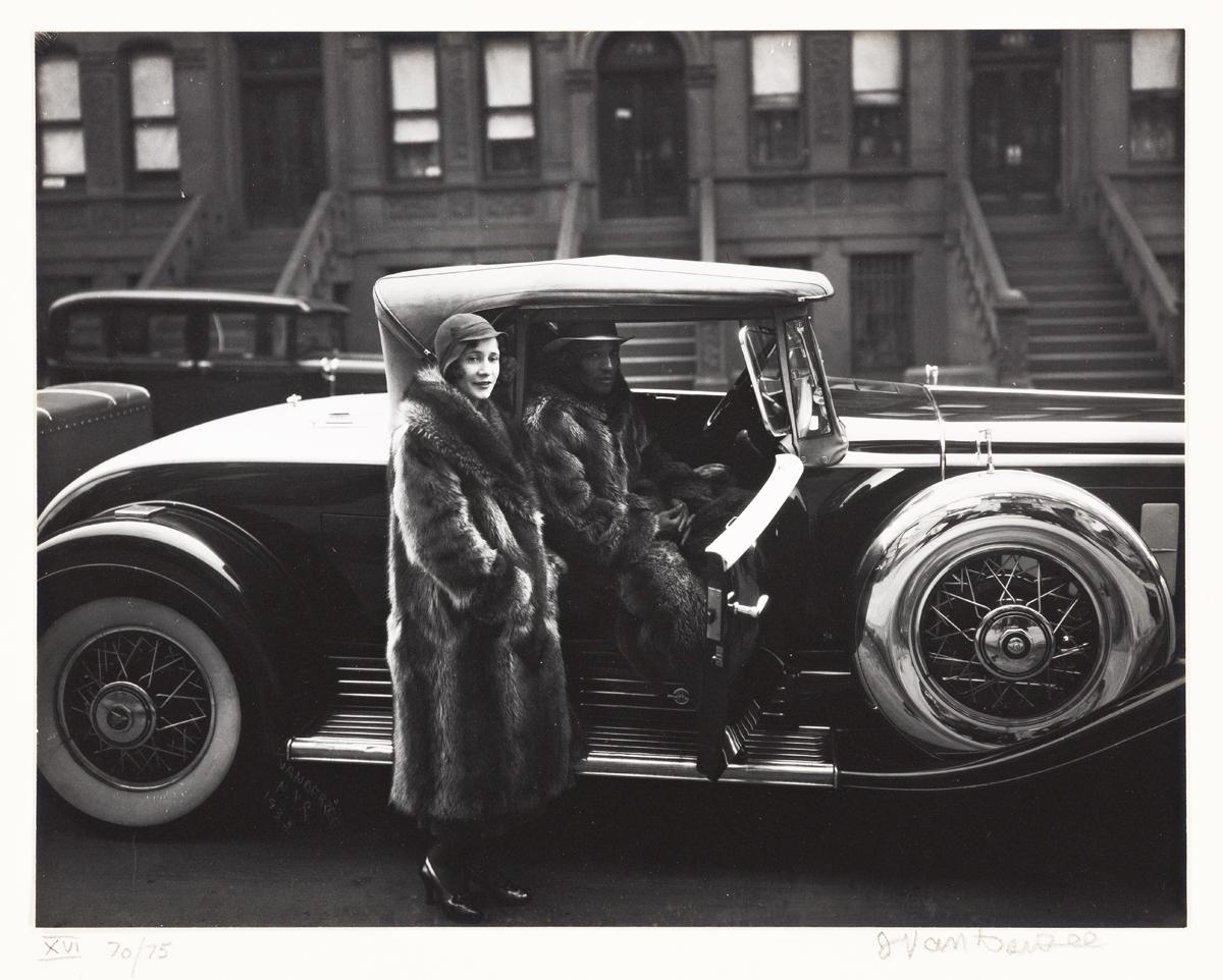JAMES VANDERZEE (1886 - 1983) Couple, Harlem (Couple in Raccoon Coats)