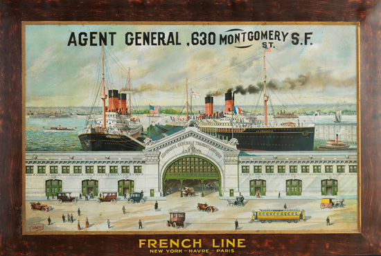 (FRENCH LINE.) French Line. New York - Havre - Paris.